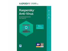 Kaspersky Anti-Virus - 3 Users - 1 Year