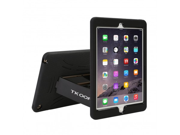 TKOOFN Heavy Duty Silicon Defender Multilayer Protective Shell Military Shockproof Bumper Case Cover with Built in Stand for Apple iPad 2 / iPad 3 / iPad 4