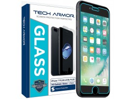 "Tech Armor iPhone 6 Plus /  6S Plus / 7 Plus / 8 Plus (5.5"") Ballistic Glass Screen Protector - Protect Your Screen from Drops - 99.99% Clarity and Touch Accuracy"